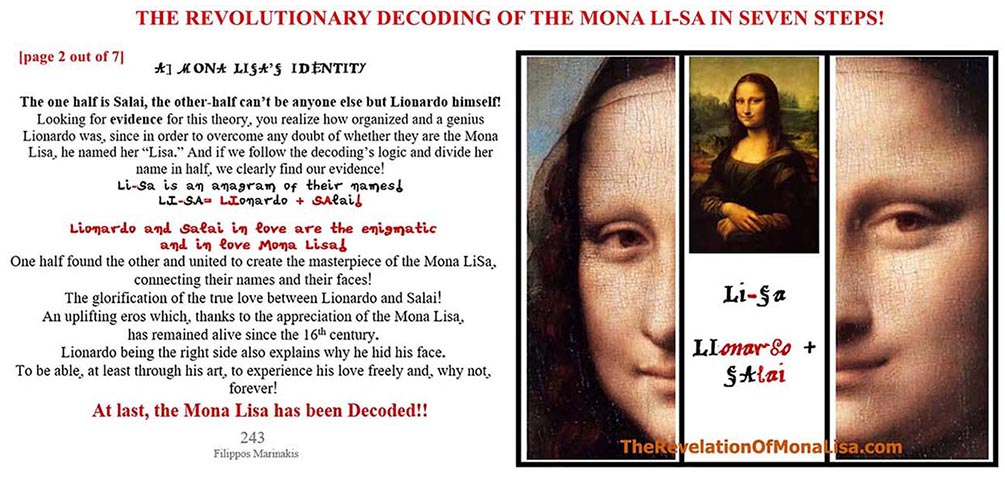 THE DECODING OF THE MONA LISA IS NOW REVEALED AFTER 500 YEARS OF WAITING!